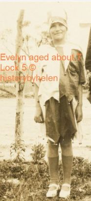 Evelyn Rains aged about 7