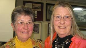 M&DGS president L Grant with Helen Stagg