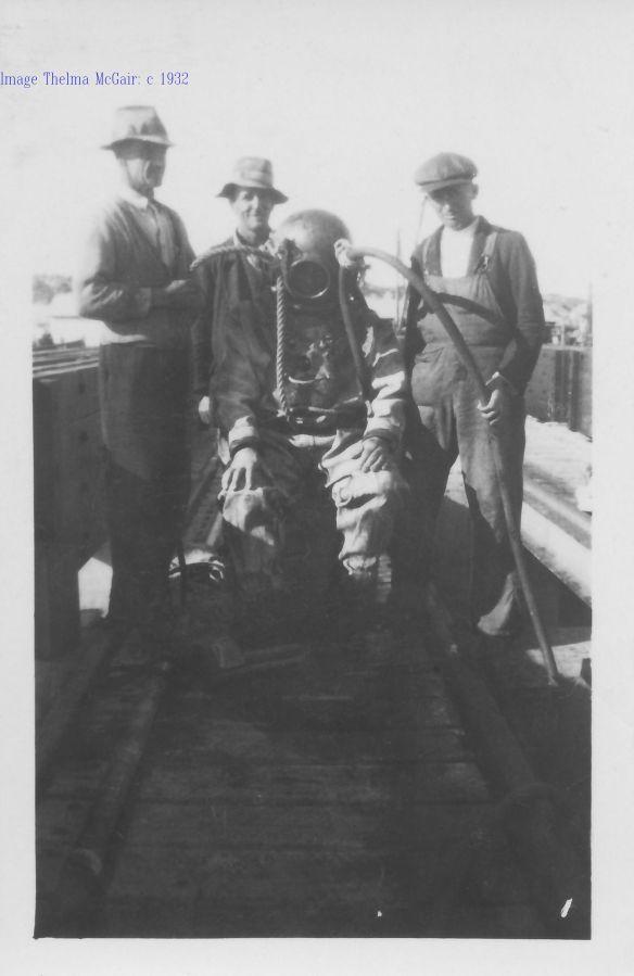 Arthur Eddy,S Allen, Stan Underwood Fred Simms Thelma McGair